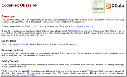 Installing the TFS OData service on your corporate TFS