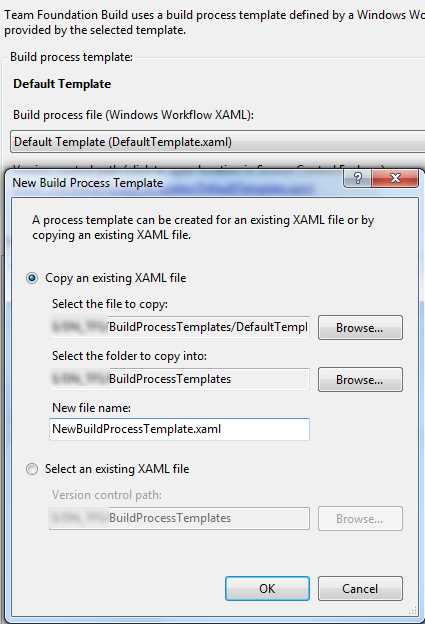Error When Copying Build Template The Type Tfsbuild Process