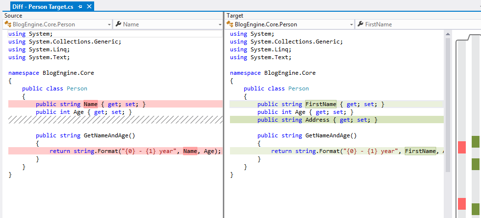 Use Visual Studio as your Diff and Merging Tool for local
