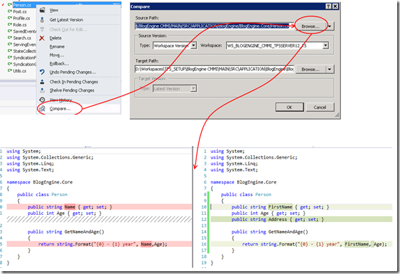 Use Visual Studio as your Diff and Merging Tool for local files (1/5)