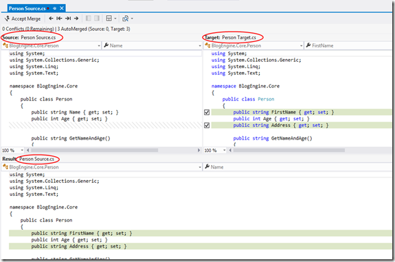 Use Visual Studio as your Diff and Merging Tool for local files (5/5)