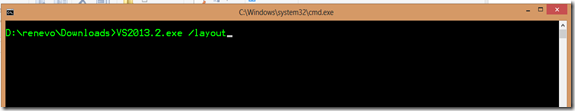 Download Visual Studio Web Installers as a complete package (2/3)