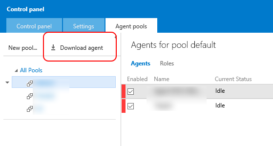 Running a VS Team Services (VSO) Build Agent in a Windows