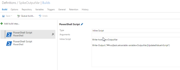 Set output variable in a Powershell VSTS Build Task | The