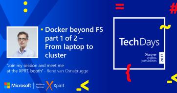 TechDays Personal banner - Rene van Osnabrugge